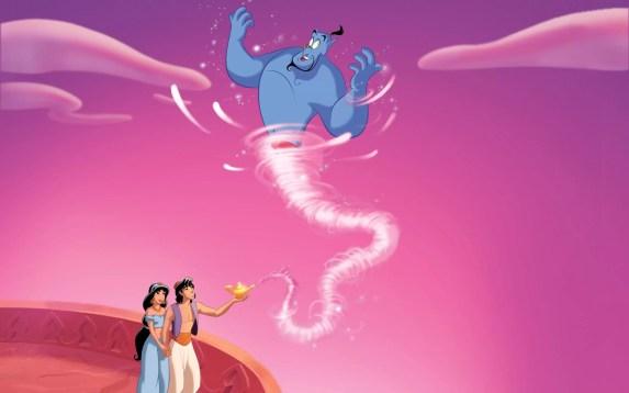 Aladin melepaskan Jin dari Lampu Ajaib