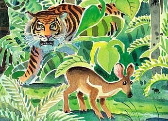 Fabel Rakyat Dongeng Cerita Kancil Dan Harimau