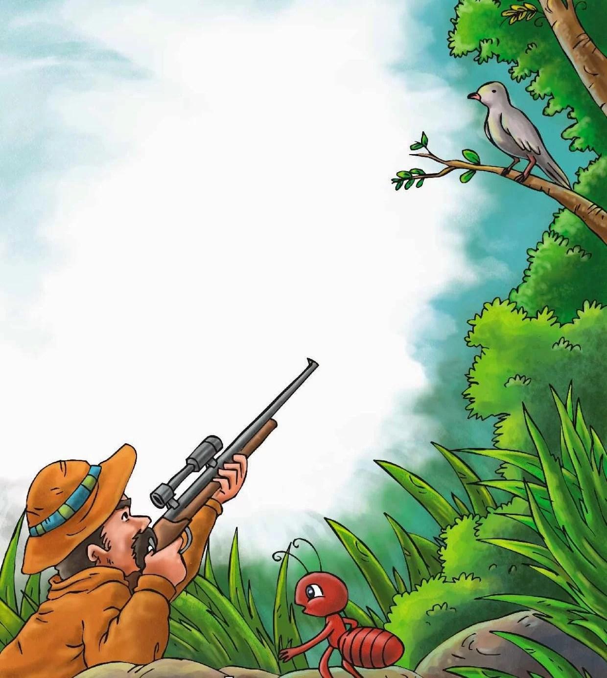Cerita Dongeng Hewan Semut dan Burung Merpati