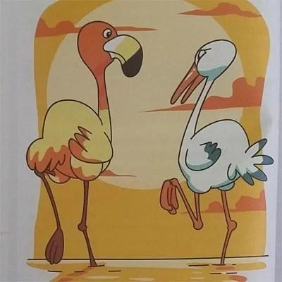 Dongeng Singkat Anak : Flamingo Dan Bangau