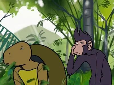 Cerita Dongeng Anak Sedunia Monyet dan Kura-Kura Fabel Terpopuler
