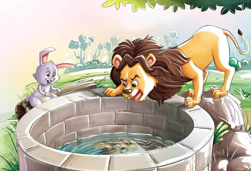 Dongeng anak lucu Singa yang bodoh dan Kelinci yang pintar