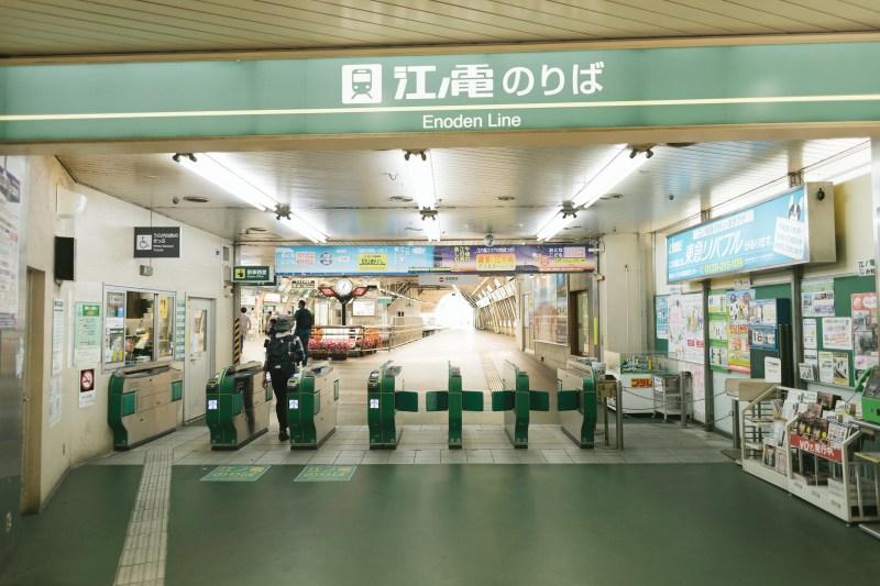 藤沢駅の江ノ電乗り場