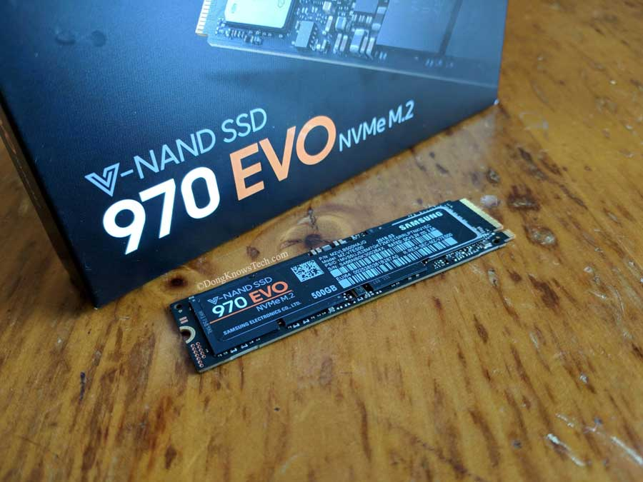 Samsung 970 Evo Nvme Ssd Review Dong Knows Tech