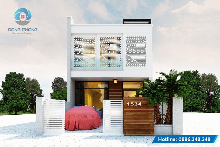 mẫu thiết kế nhà phố 2 tầng hiện đại đẹp