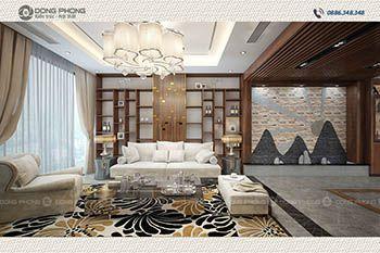 nội thất phòng khách nhà 3 tầng hiện đại NP1300
