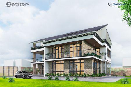 nhà biệt thự hiện đại 3 tầng tại h đông anh BT1308-dd