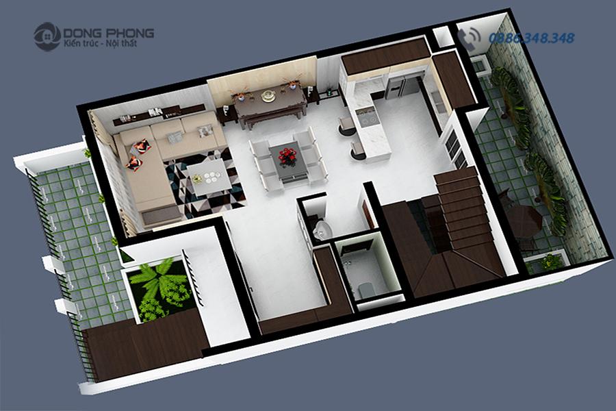 nội thất nhà phố hiện đại NTNP1309-1