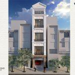 nhà phố tân cổ điển 40m2 4 tầng 1 tum NPCD1301-1