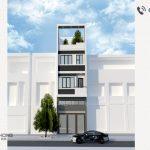 nhà phố 3 tầng 1 tum hiện đại NPHD-1
