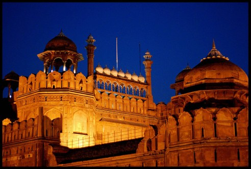 Red Fort During Night