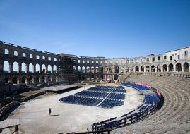 Inside the Roman Amphitheater in Pula