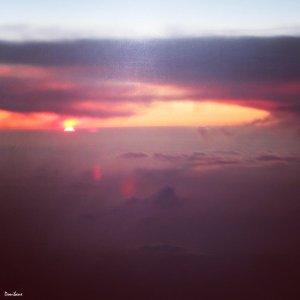 Puesta de sol desde el cielo por Donibane