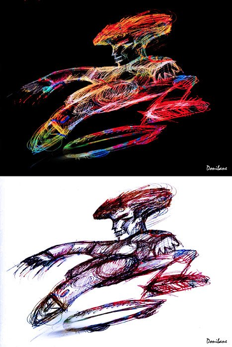 Double Color Skaters by Donibane