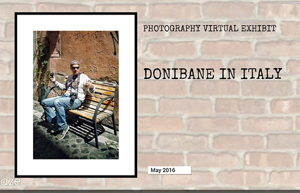 Donibane the artist has been in Italy taking photographies