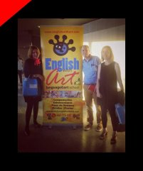 Cartel y Roll Up para English with Art por Donibane
