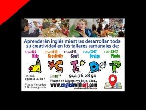Flyer English with Art por Donibane