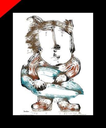 Surfer Dog Ilustración de Donibane