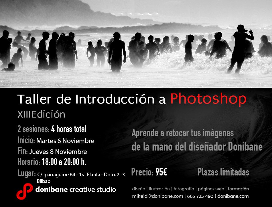 Curso iniciación de photoshop en Bilbao