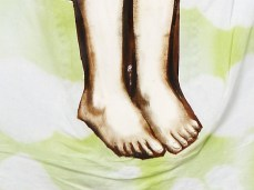 """""""Apple"""" - DETAIL 3, oil on dyed canvas - 168 x 139 cm, 2008"""