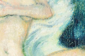 """French Diptih"" - DETAIL 1, oil on canvas/wood - 2 x 22 x 18 cm, 2002"