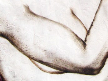 """""""Flowers Watering"""" - DETAIL 5, oil on canvas - 213 x 173 cm, 2009"""