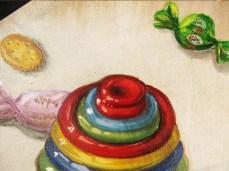 """""""Sugar"""" - DETAIL 2, oil on canvas - 60 x 50 cm, 2010"""