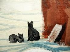 """Winter II"" - DETAIL 2, oil on canvas - 72 x 86 cm, 2012"