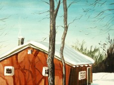 """Winter II"" - DETAIL 3, oil on canvas - 72 x 86 cm, 2012"
