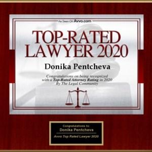 Avvo.com Top-Rated Lawyer 2020 - Donika Pentcheva