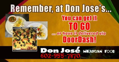 Don Jose Mexican Food has Food to Go and Delivery