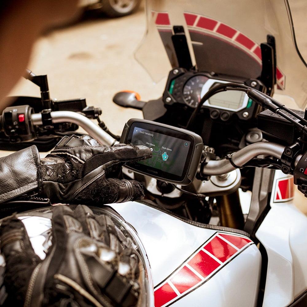 GPS para moto guantes
