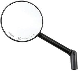 Espejo retro redondo negro
