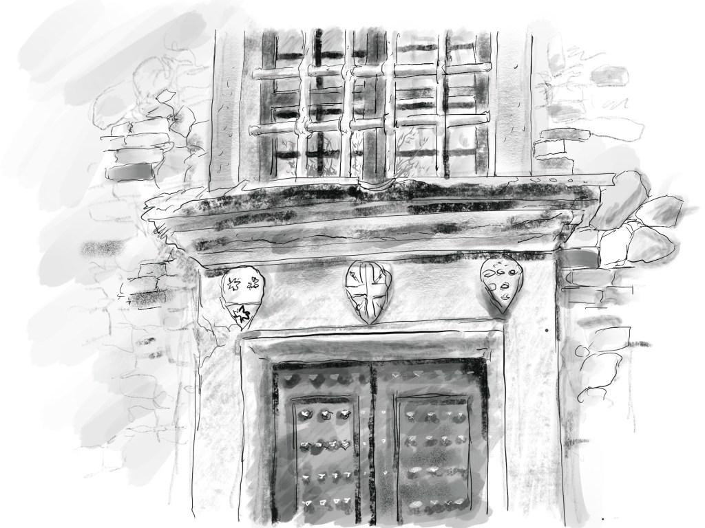 The entranceway to Machiavellis Albergaccio