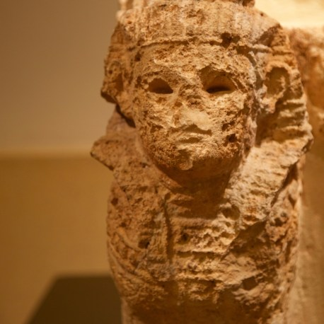 Close-up of winged sphinx guarding Astarte's throne. Don Michael Hudson, PhD National Museum of Beirut Beirut, Lebanon