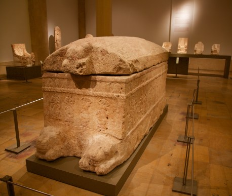 Sarcophagus for King Ahiram of Byblos. Don Michael Hudson, PhD National Museum of Beirut Beirut, Lebanon