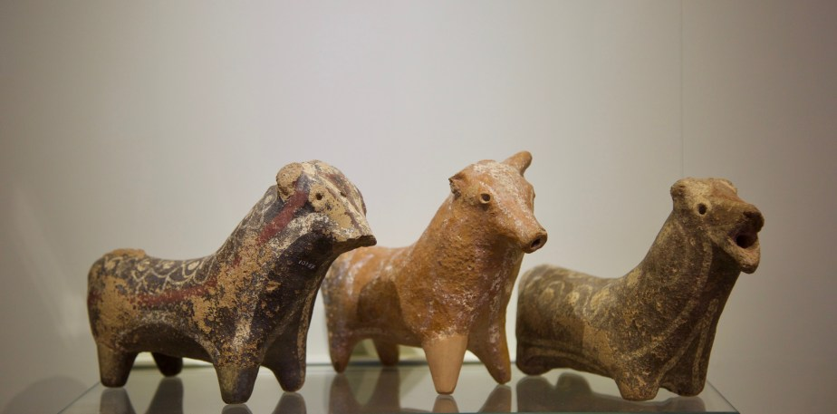 Middle Bronze Bovine Figurines