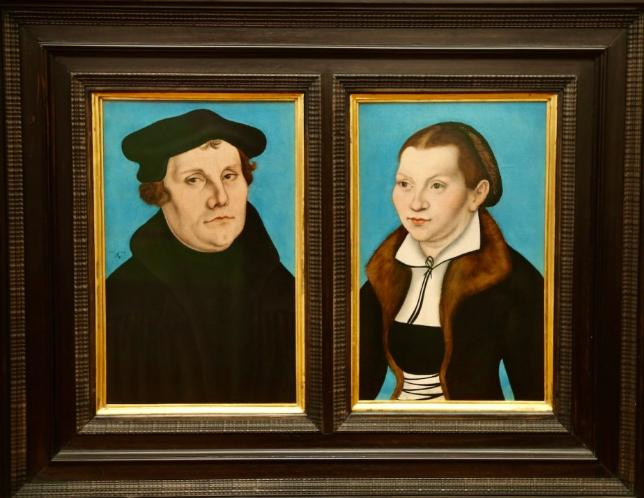 Martin Luther and Katharina von Bora by Cranach the Elder (1529) Vatican Museum