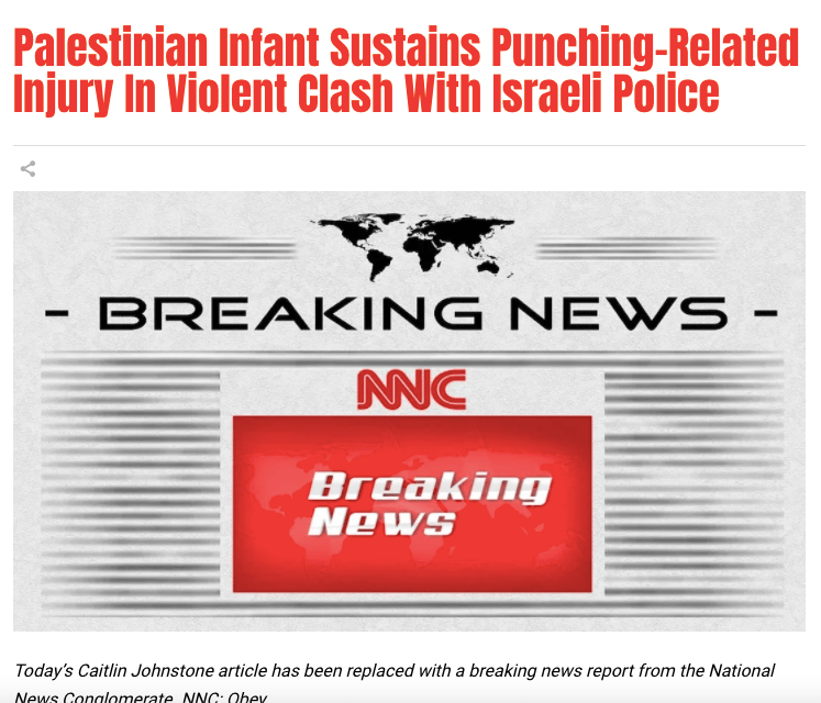 Palestinian Infant Sustains Punching-Related Injury In Violent Clash With Israeli Police