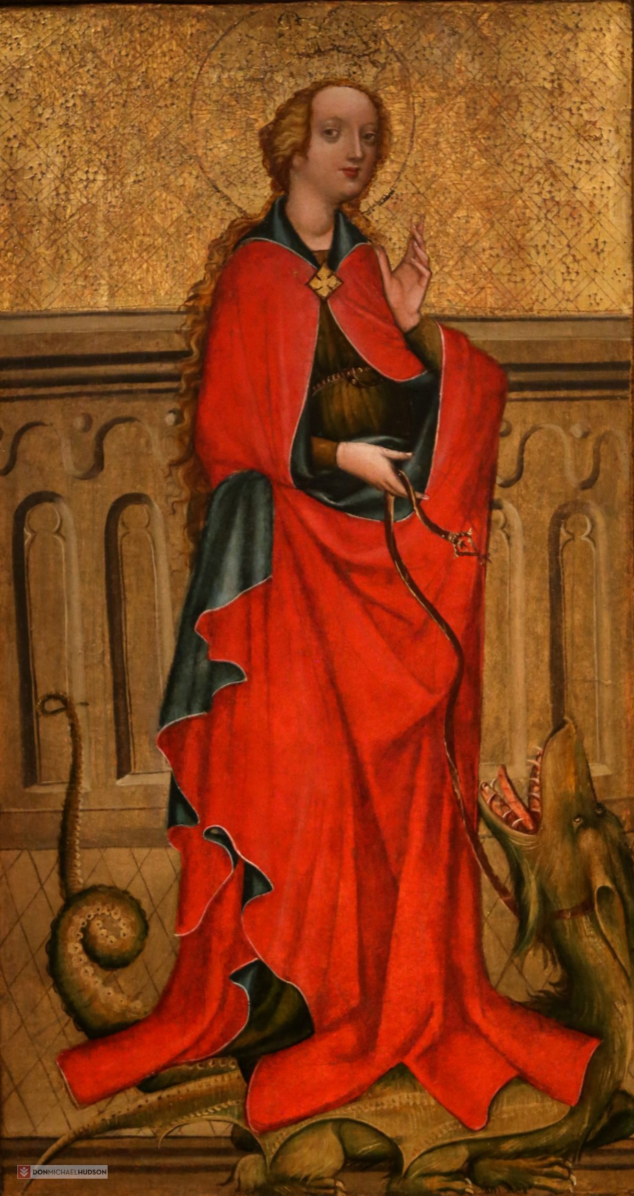 St. Margaret, Altarpiece from Hyrov, Southern Bohemia (1430-1440)