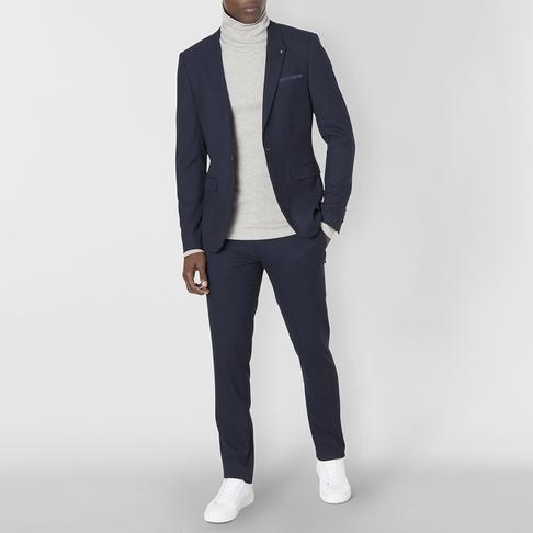 SKINNY POLYVISCOSE SUIT TROUSER
