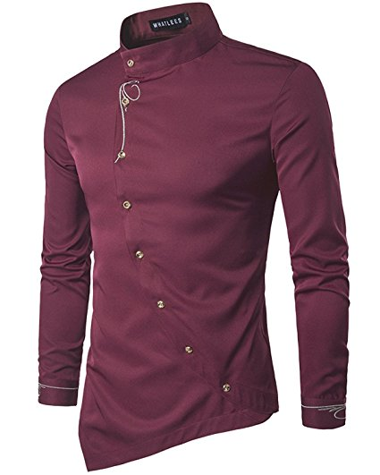Meroon Faux Twinset Panel Design Long Sleeve Shirt