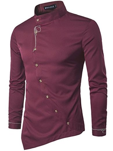 Meroon Faux Twinset Panel Design Long Sleeve Shirt