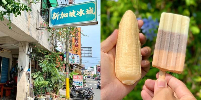 【台南美食】新加坡冰城|四十年老店!在地人的兒時回憶,來這不能錯過特製三色冰棒及核仁蛋黃鹹冰棒!