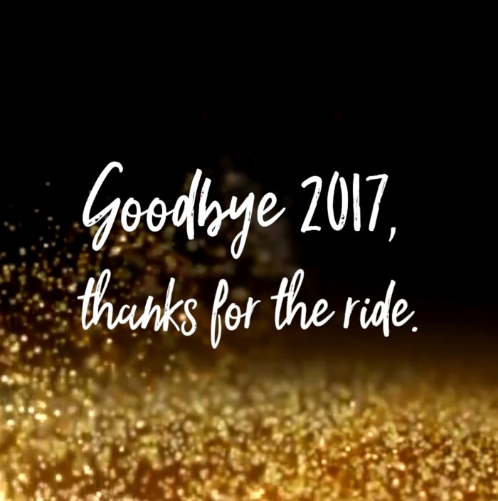 GOODBYE 2017 THANKS FOR THE RIDE