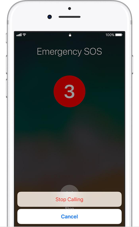 EMERGENCY SOS IPHONE X
