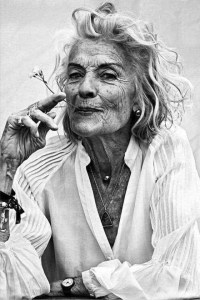 Beautiful older woman/ loss don't last the journey image