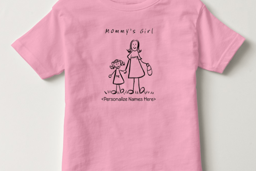 Mommy and Me Daughter Custom Names or Message T-Shirts