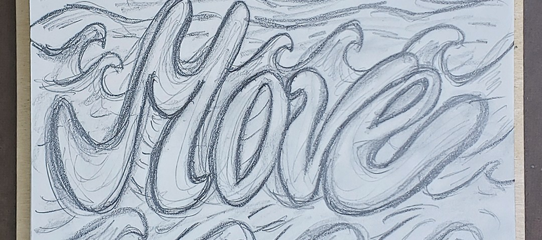 Move Word Pencil Sketch Art Drawing