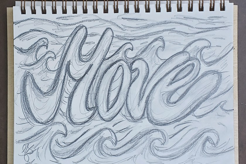 Move Word Pencil Sketch Art Drawing